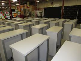 (50) Custom Gravitee Backlit Rental Counters with Backlit Graphics